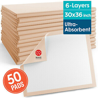 50 30 X 36 Inch ULTRA HEAVY Absorbency Underpads, Adult Disposable Polymer Pads