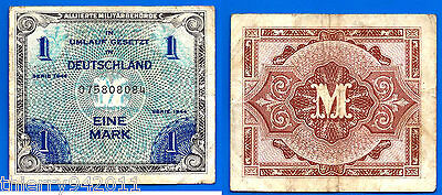 Germany 1 Mark 1944 Deutschland Printed by USA WWI Free Shipping Worldwide