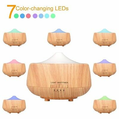 Essential Oils Diffuser Aromatherapy Doterra Young Living Ultrasonic Wood Grain