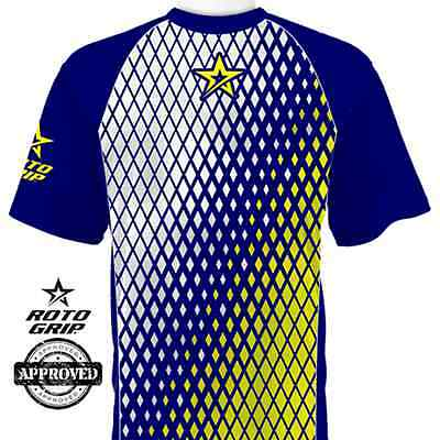 Roto Grip Fade Navy/Yellow/White Mens Bowling Jersey