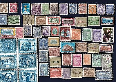 100 Diff Guatemala Stamps