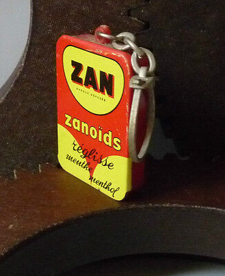 PORTE CLE ZAN Zanoïds réglisse 1960 French Vintage Advertising Keychain 1960s