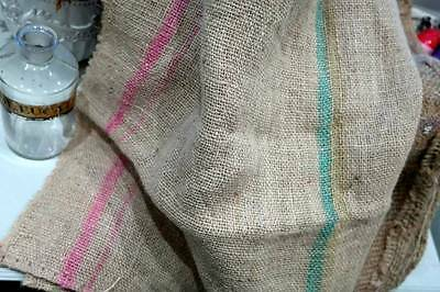 Vintage French Hessian jute burlap sack fabric ...ideal upholstery
