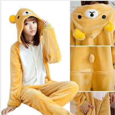 Rilakkuma Adult Pajamas Kigurumi Cosplay Costume Animal robe Sleepwear Suit