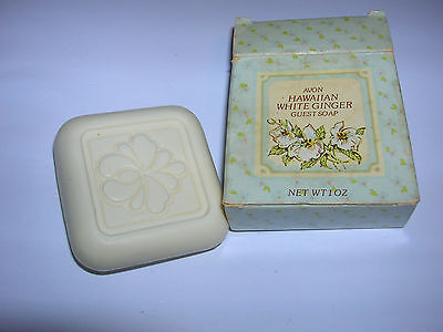 Vintage Avon Hawaiian White Ginger Guest Soap pb153 in box