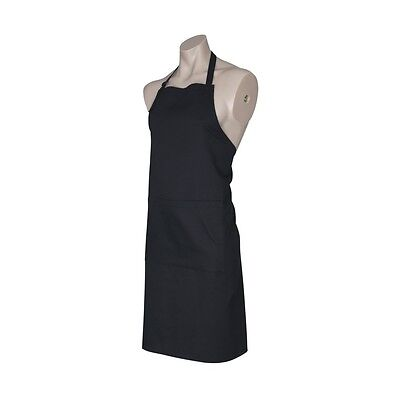 BA95 - Fashion Biz - Black BIB Apron - Adjustable Halter - EACH