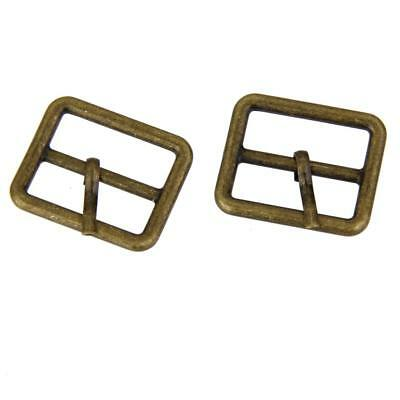 10x Metal Roller Pin Buckles Rectangle Tri-glide Buckle Slider Bronze 25mm
