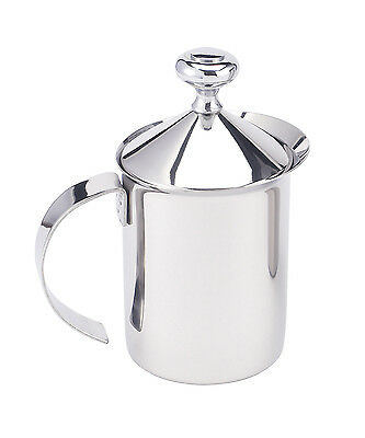 Harold Stainless Steel Milk Creamer Frother Cappuccino Coffee Foam Pitcher, 14oz