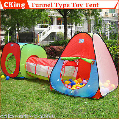 Outdoor Toys Portable Tunnel Tent Playhuts Easy Storage for Baby Kids Children