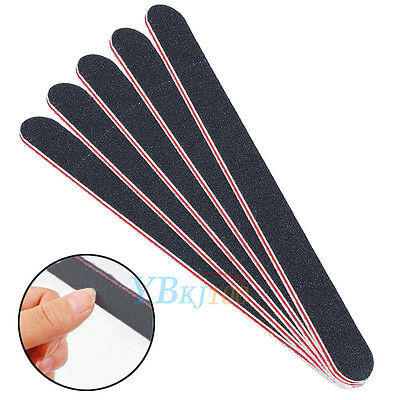 1/5/10pcs Pro DIY Manicure Tool Double Sided Nail File Sanding Grits Emery Board