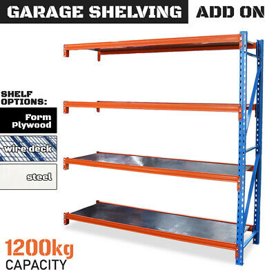 GARAGE SHELVING - Add-On Bay - 2m Steel Longspan Storage Racking Warehouse