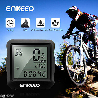 Bicycle Bike Cycle Computer Speedometer Odometer Distance Speed Time Temperature