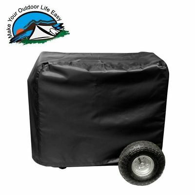 All Weather Protected Outdoor Black Vinyl Generator Cover Medium