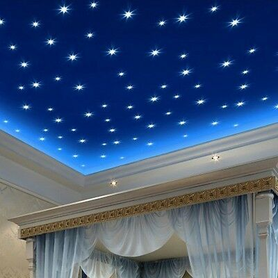 100 PCS Star Wall Stickers Glow In The Dark Decal Baby Kids Room Bedroom Decor
