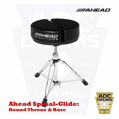 Ahead Spinal-G 'Spinal Glide' Round Drum Throne & Base (Orthopaedic Stool/Black)