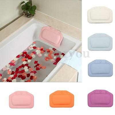 PVC Bath Spa Bathtub Pillow With Suction Cups For Bathroom Comfortable Relax