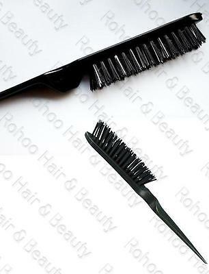Women's Professional Black Back Combing Teasing Brush Untangle / Smooth Brush