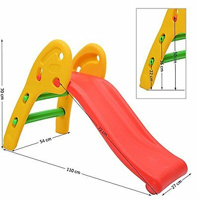 Qaba Childrens Slide Kids Toddler Play Toy Playground Outdoor Indoor Climbing To
