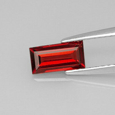 Red Garnet - Natural - Baguette Cut - Australian