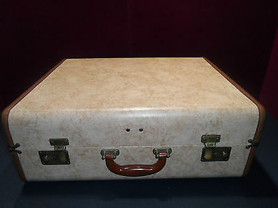 RARE VINTAGE MID CENTURY HARD SUITCASE HANGERS 1950-60 DIY Project End Table