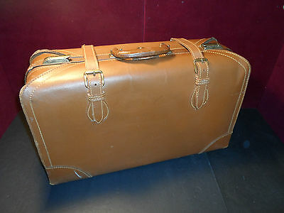 Eveleigh Baggage Co SuitCase Brown Leather Travel Hardshell Leather