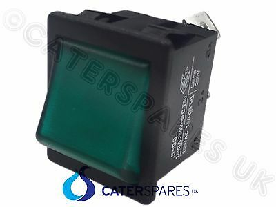 Sw59 Lincat Green Neon Rocker Switch On / Off Pizza Ovens Grills 5 Pin Sw 59