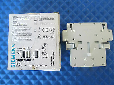 New Siemens Auxilary Contact 3RH1921 1DA11 Free Shipping
