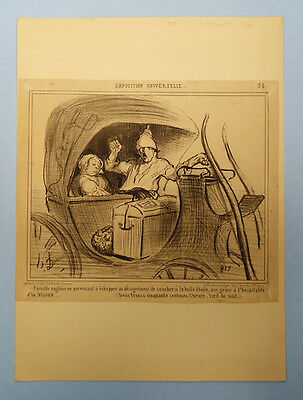 Antique 19Th Century French Newspaper Political Satire Cartoon Clipping 5/9/1855