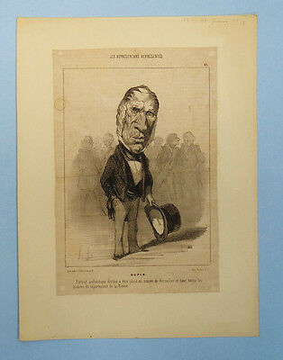 Antique 19Th Century French Newspaper Political Satire Cartoon Clipping 14/6/32