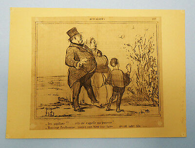 Antique 19Th Century French Newspaper Political Satire Cartoon Clipping 3/4/1856