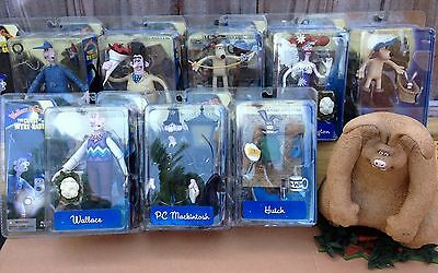 Wallace And Gromit Curse of The Were-Rabbit Complete Set! Lot 9- Mcfarlane Toys