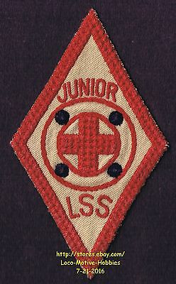 LMH Patch Badge RED CROSS Life Saving Service JUNIOR LSS Lifeguard Senior 1940's