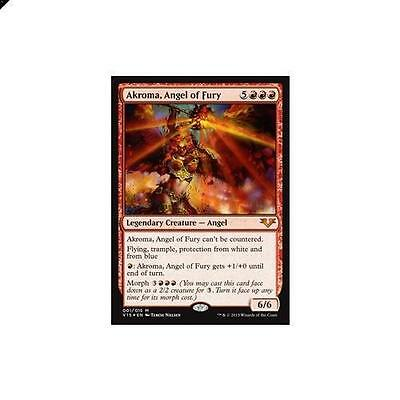 Magic The Gathering MTG Akroma, Angel of Fury - Foil 1/15 From Vault: Angels