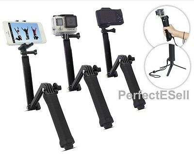 3-Way Extendable Waterproof Monopod/Selfie Stick/Tripod for GoPro Camera iPhone