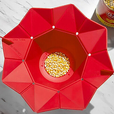 Silicone Kawaii Microwave Magic Popcorn Maker Container Kitchen Cooking Tool
