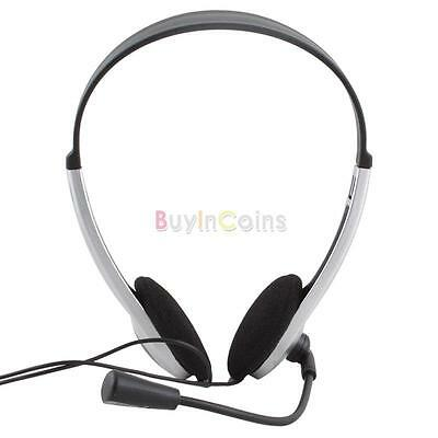 1PC Stereo Headphone Headset with Microphone Laptop Computer Practical Hot Sale