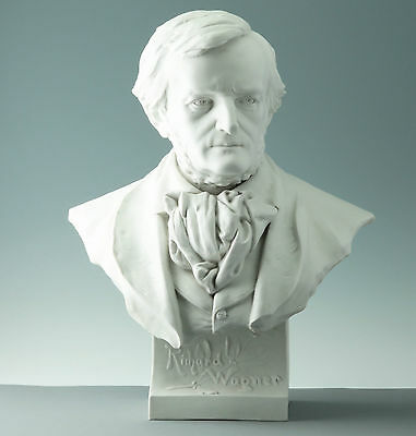 Richard Wagner Life-size Porcelain Bust around 1890 Biscuit china Bust Statue
