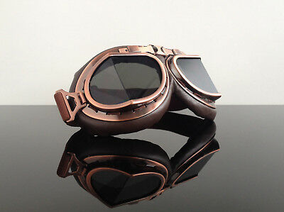 MOTORRADBRILLE / Motorcycle GOGGLES/glasses / Lunettes motocyclisme !STEAMPUNK!