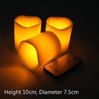 Flameless Flickering Battery Operated LED Tea Light Candle Remote Control New SS