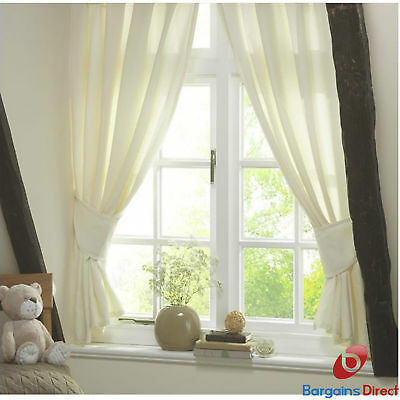Lollipop Lane Teddys Cottage Cream Baby Nursery Curtains and Tie Backs 137 x ...