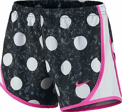 Nike Tempo Allover Print Junior Running Shorts - Black