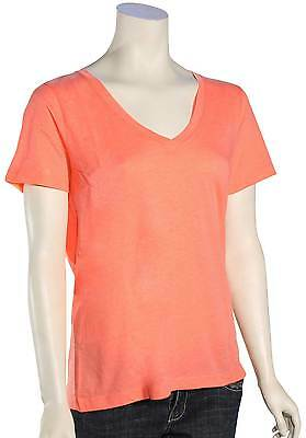 Hurley Solid Perfect V-Neck Women's T-Shirt - Heather Ember Glow - New