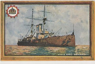 POSTCARD  SHIPS  HMS  King Edward