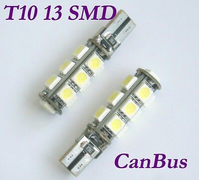 5X 13 SMD LED 5050 T10 w5w Canbus Lampe weiss Standlicht Innenraum Glassockel