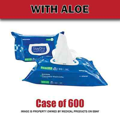 NEW - Personal Wipes StayDry® Soft Pack Aloe / Vitamin E Scented 600 Count