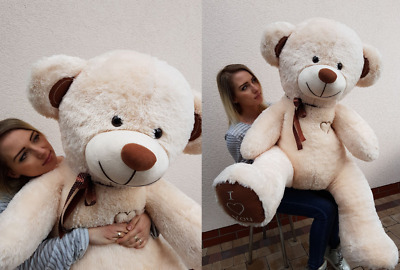 160 cm ! GIANT LARGE BIG HUGE XXL  white / beige / pink / ginger TEDDY BEAR