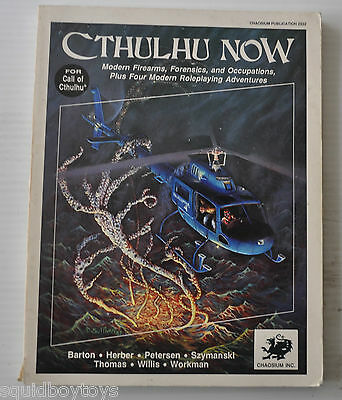 - CTHULHU NOW Background & Adventure RPG BOOK #2322  1987 -