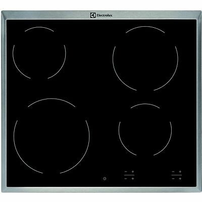 ELECTROLUX EHF 16240 XK Built-in Black Glass Kitchen Electric Hob New!!!