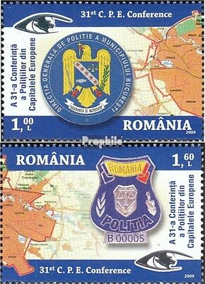 Romania 6360x-6361x (complete.issue.) unmounted mint / never hinged 2009 Polizei