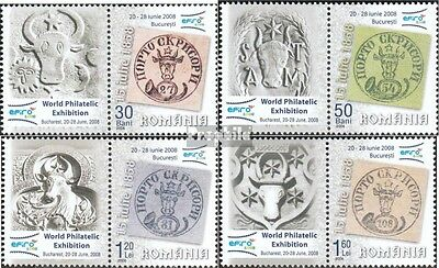 Romania 6118-6121 with zierfeld (complete.issue.) unmounted mint / never hinged